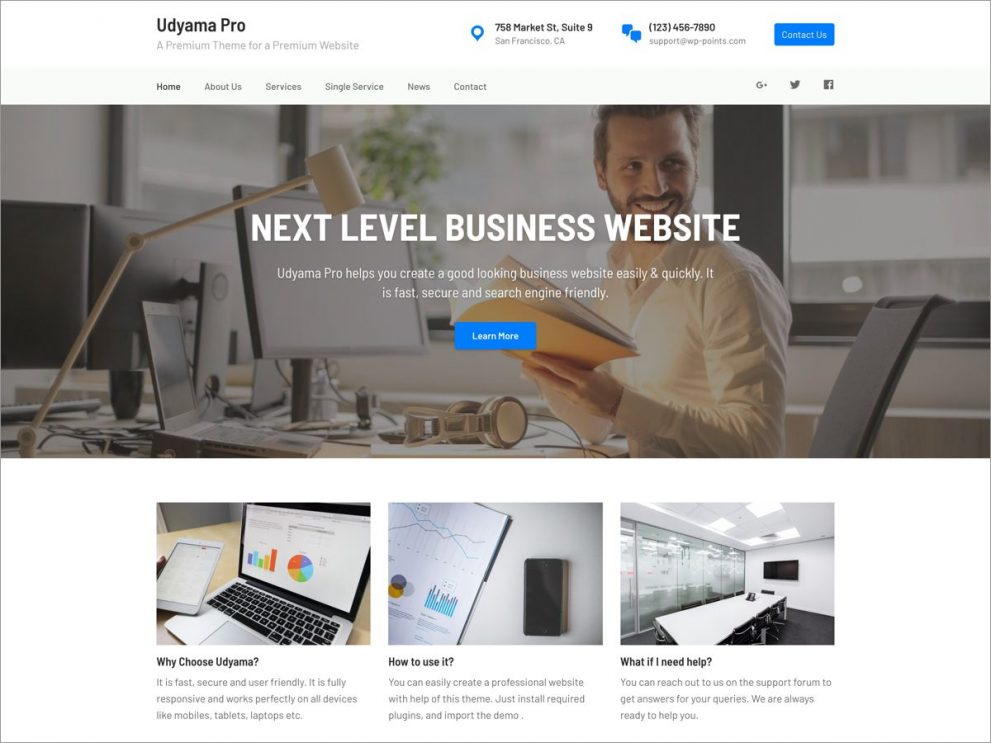 Udyama Pro - Business WordPress Theme