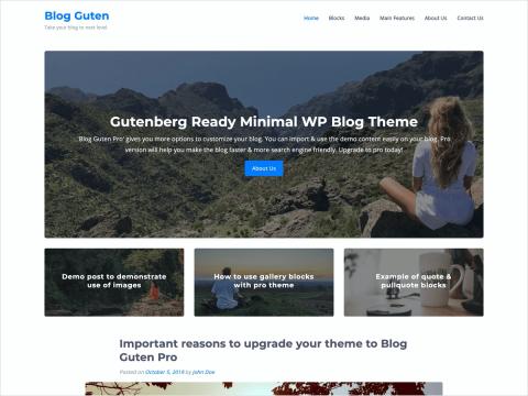 Blog Guten Pro - Gutenberg WordPress Blog Theme