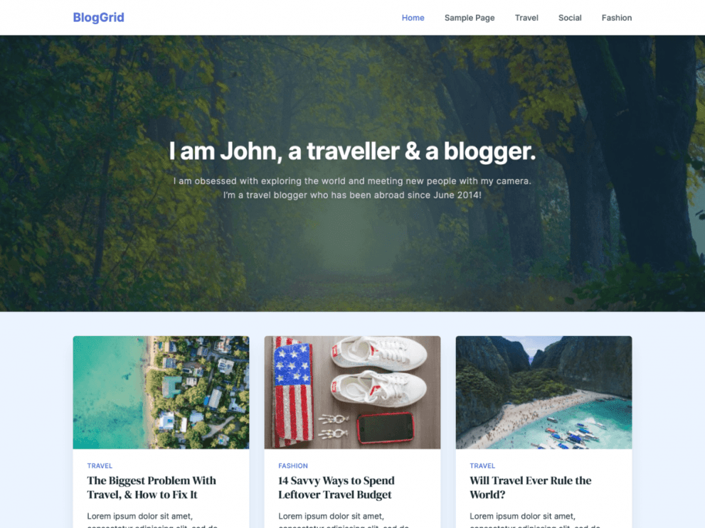 BlogGrid WordPress Blog Theme