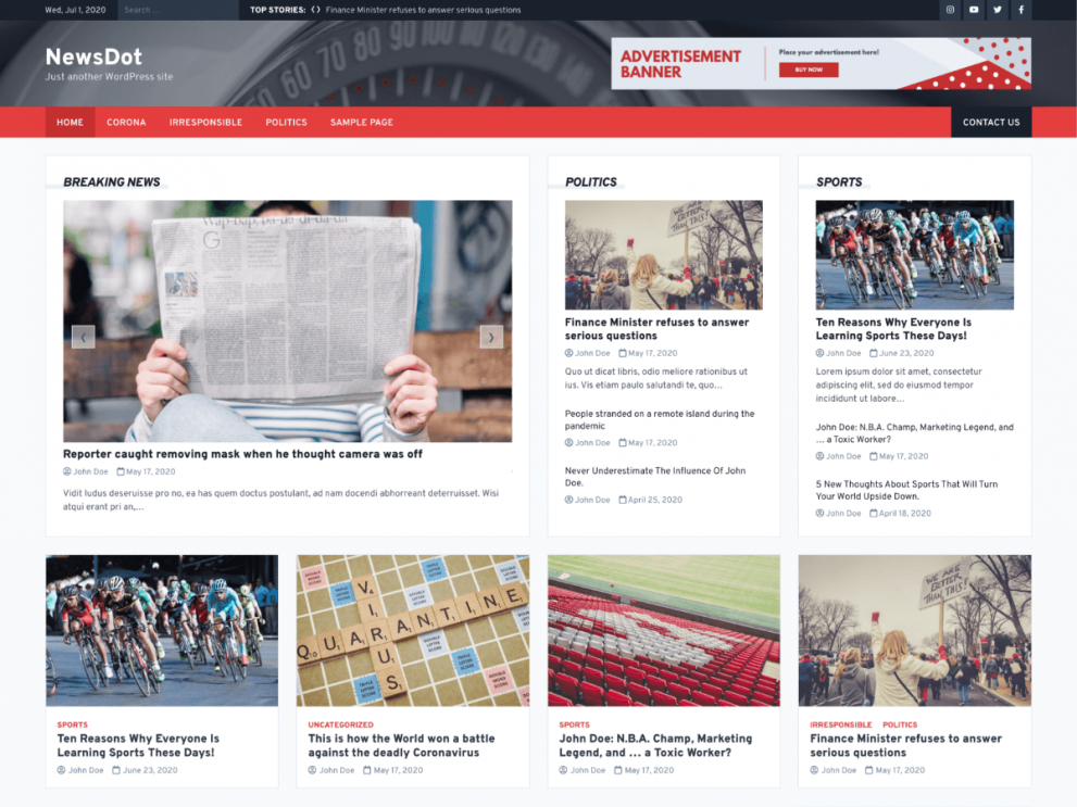 NewsDot - WordPress News Theme